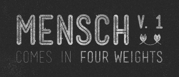 another nice font Lost Type Co-op   Mensch