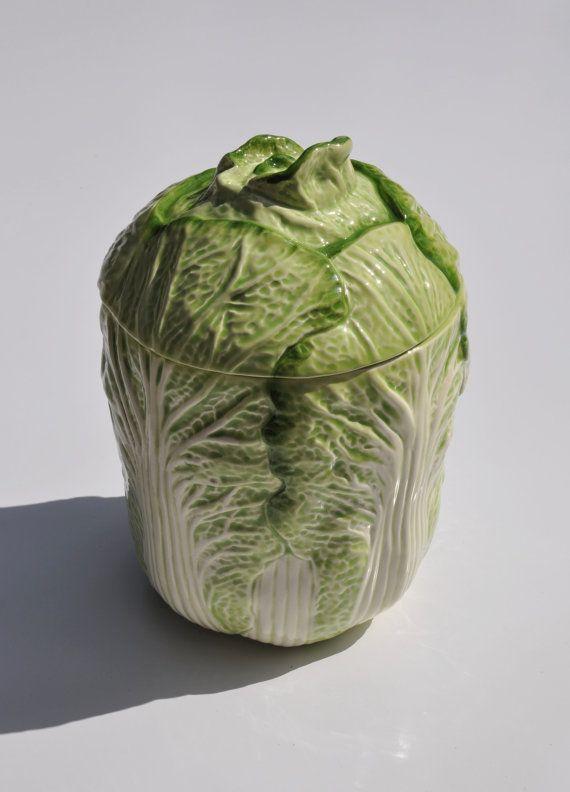 Majolica Cabbage Ware / Lettuce Ware, Vintage