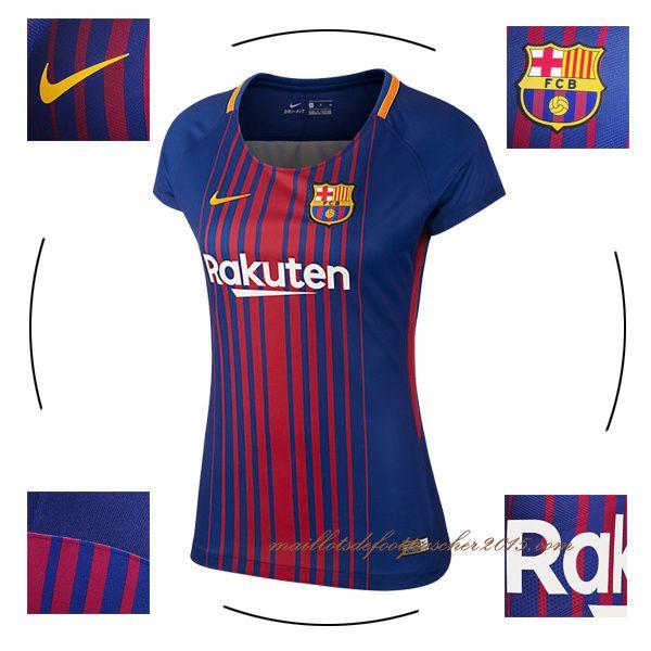 les maillot football Barça 2017/2018 domicile femme discount