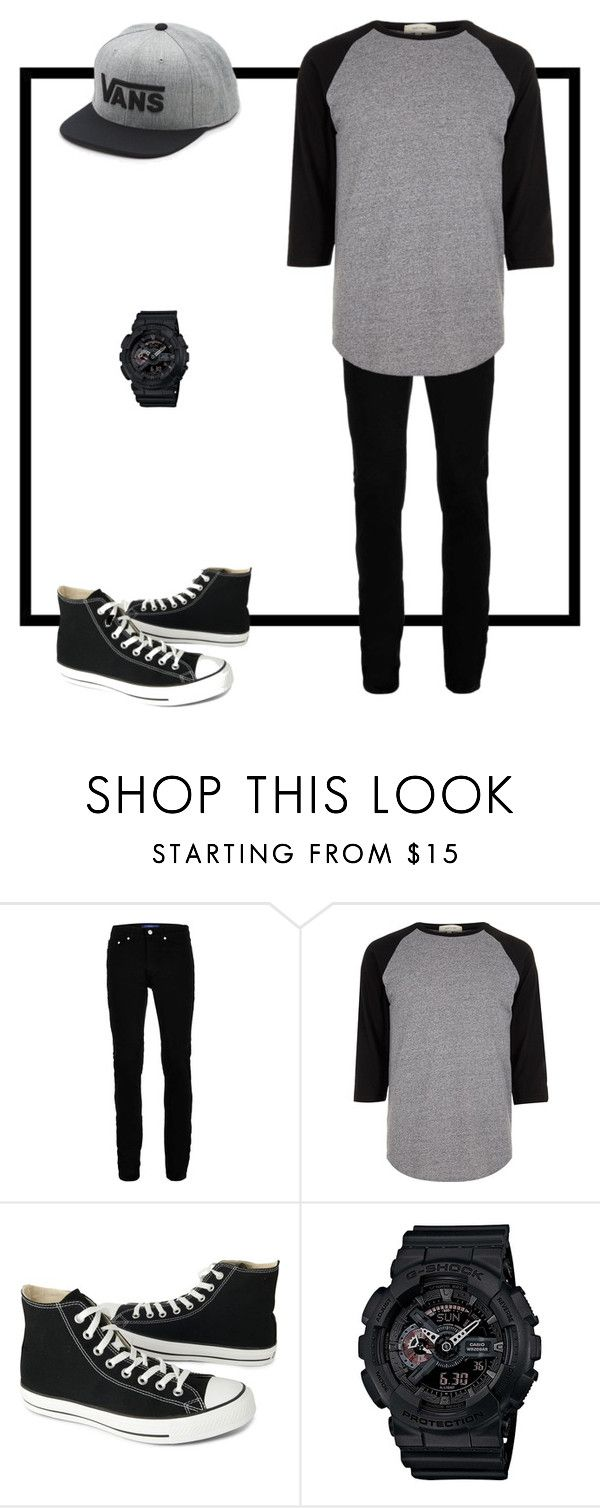 """""""Naruth"""" by theautumngirl ❤ liked on Polyvore featuring Topman, River Island, Converse, G-Shock, Vans, men's fashion and menswear"""