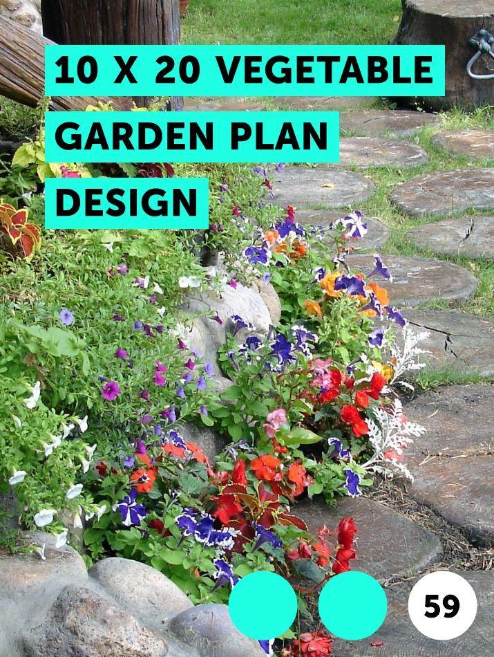 10 X 20 Vegetable Garden Plan Design Plants Shrubs Soil