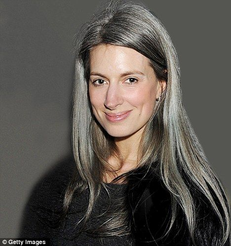 Au naturelle: Writer Sarah Harris began going 'silver' at 16 and doesn't want to hide her locks