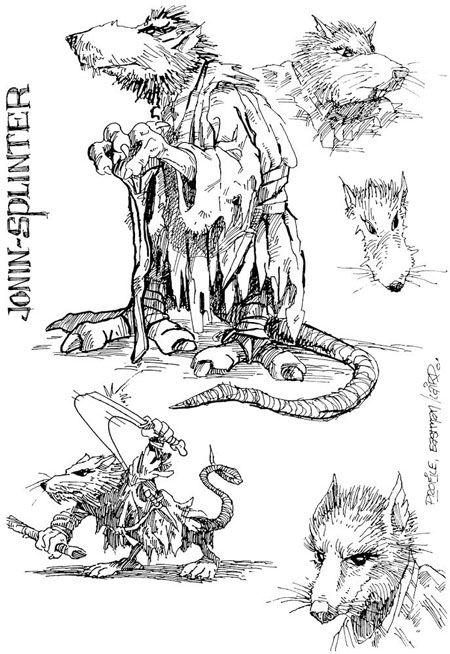 R sultat de recherche d 39 images pour rat mechant dessin - Rat tortues ninja ...