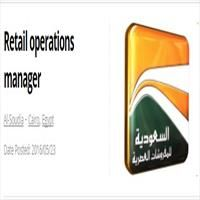 Retail operations manager / Job Opening In CairoDeputizing for the Area Manager, supporting and overseeing shop openings.Overseeing the recruitment of new sales and retail staff.Responsible for training and induction programmes for new staff members.Day to day running and operating of stores.Ensuring a consistently high standard of presentation in all branches.Working closely with visual merchandisers...............................To Apply Online Or For More Details Click The Job Link