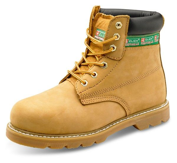 Goodyear Steel Toe Cap Nubuck Welt Leather Boots Tan