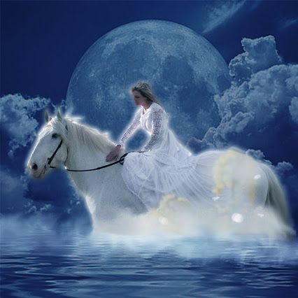 Epona - Celtic Goddess of Horses Epona is usually depicted riding a white horse and it was said the goddess carried those who has passed in the mortal world to the Otherworld