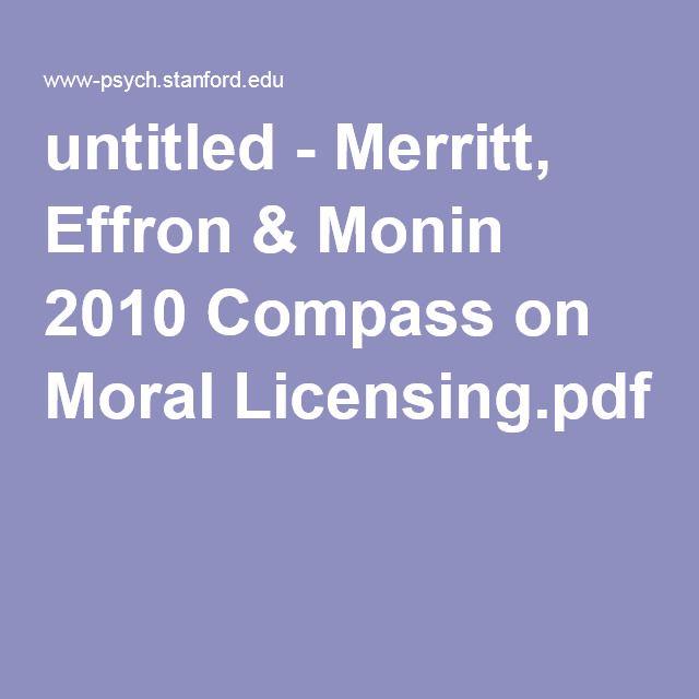 untitled - Merritt, Effron & Monin 2010 Compass on Moral Licensing.pdf