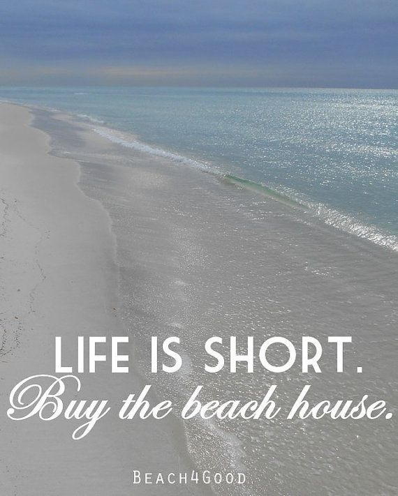 Beach Art Photograph Print Life is Short Buy the by ModernBeach