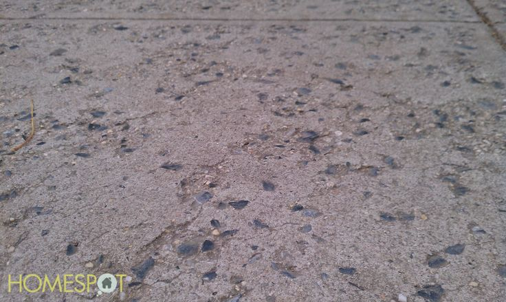 Concrete spalling how to prevent and repair homespot for Best way to clean concrete sidewalk