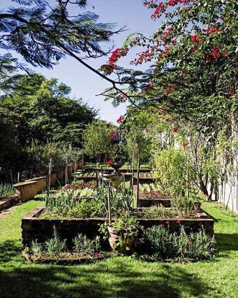 """6,078 curtidas, 43 comentários - Casa e Jardim (@casaejardim) no Instagram: """"No sítio da terapeuta holística Catia Mellão, a área da horta recebeu canteiros elevados de…"""""""