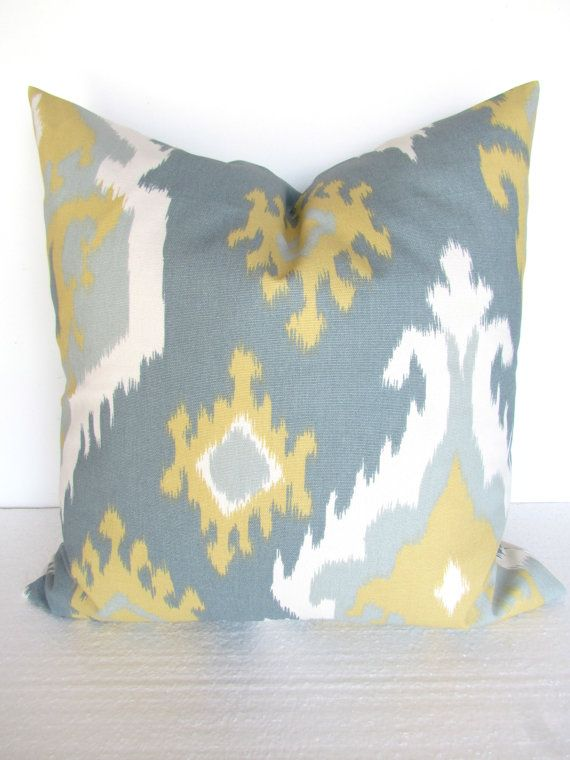 GRAY And Yellow PILLOWS Yellow Decorative by SayItWithPillows