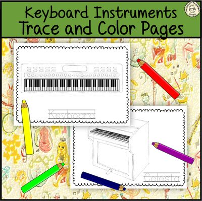 Keyboard+Musical+Instrument+Trace+and+Color+Pages+from+AMStudio+on+TeachersNotebook.com+-++(6+pages)++-+This+file+(in+PDF+form)+contains+6+Keyboard+Musical+Instruments+trace+and+coloring+pages.+Each+page+contains+an+instrument+picture+to+trace+and+color+and+the+name+of+the+instrument.+