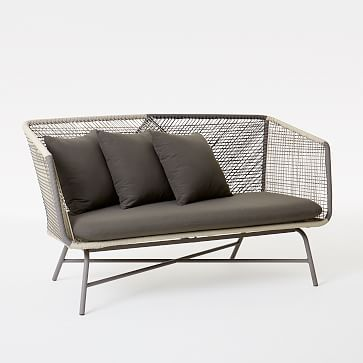 Huron Sofa – Gray/Seal #westelm West ELM....so pretty! Can't stop loving this
