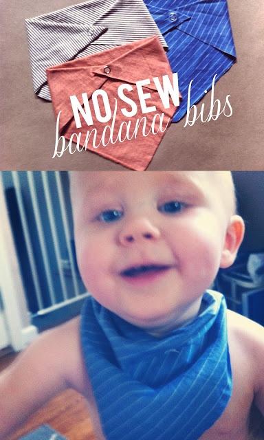 No Sew Bandana Bibs--perfect for Craft Hope Project 20 @Jade Laswell