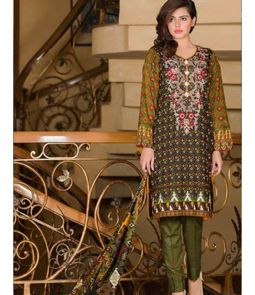 Signature Icon Embroidered Lawn Collection 2016 ZS_8A