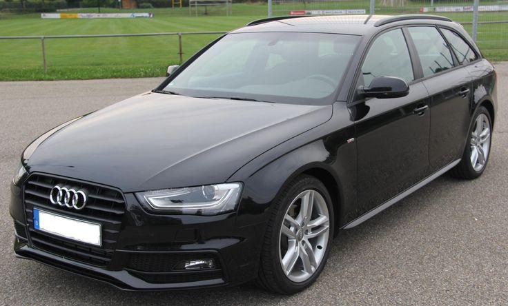 2013 Audi A4 Avant, black car, front, wallpapers