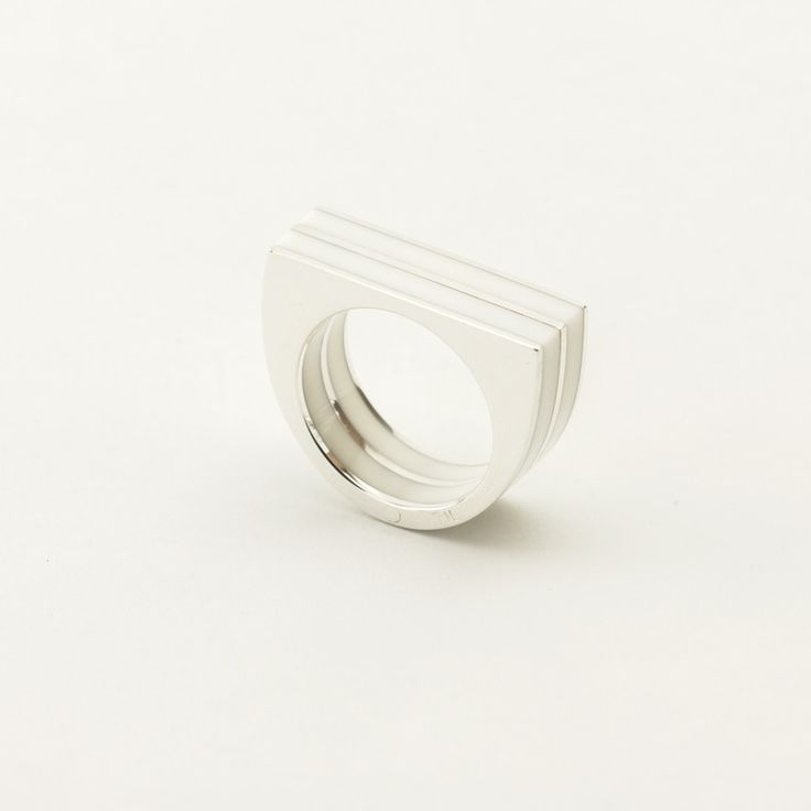 White Accent ring by Made of Mettle  for sale on http://hellopretty.co.za