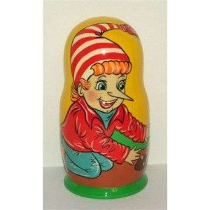 Pinocchio- buratino 50% discount    #russiandoll #matryoshka #dollsindolls #decor #traditional #kids #toys #handmade