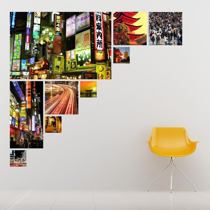 "Our Tokyo Photo Collage Wall Decal emphasises the marriage of modern and traditional.      Tokyo is one of the most modern cities in the world, whereas Japan is a nation rooted in traditional culture. Our Tokyo Photo Collage Wall Decal celebrates the grace and balance of this relationship.   This Tokyo Photo Collage comes in two sizes:  Medium: 36""x26"" sheet  Jumbo: 38""x50"" sheet,Tokyo Photo Collage, WallsNeedLove Wall Decals, Contemporary, Wall Sticker"