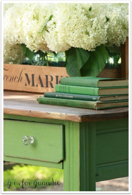 """Painted in """"In a Pickle"""" green from Sweet pickins online"""