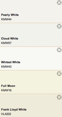 Night White Kelly-Moore Paints | New house | Pinterest | Whitest ...