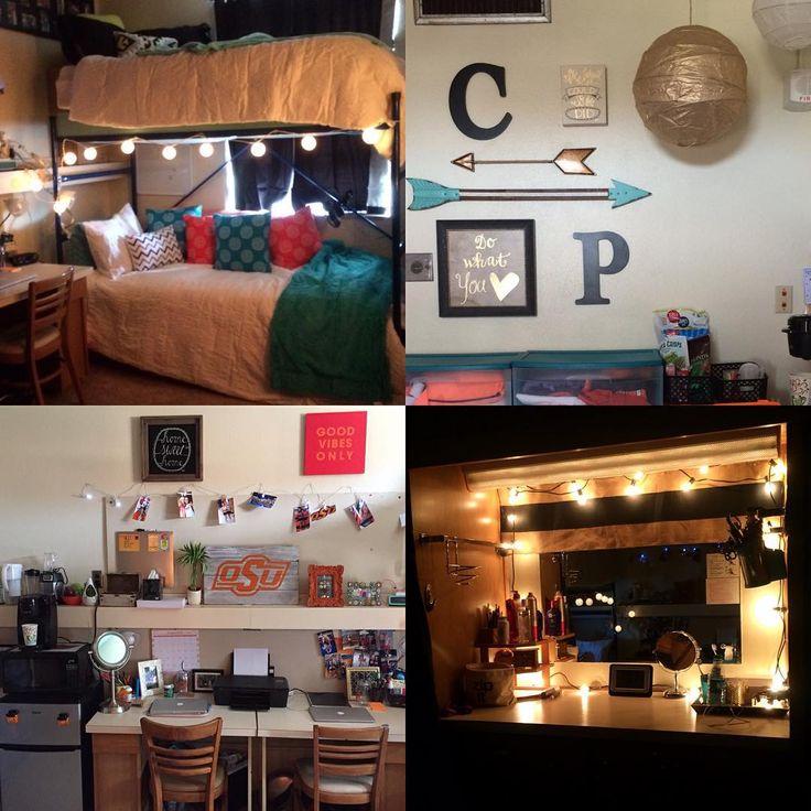 Dorm room complete #okstate #collegedorm