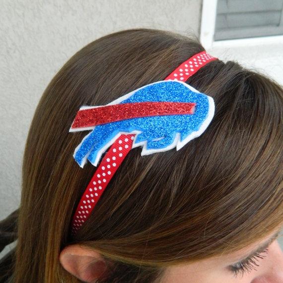 Buffalo Bills Glitter headband for Ry!! Jason would love it!