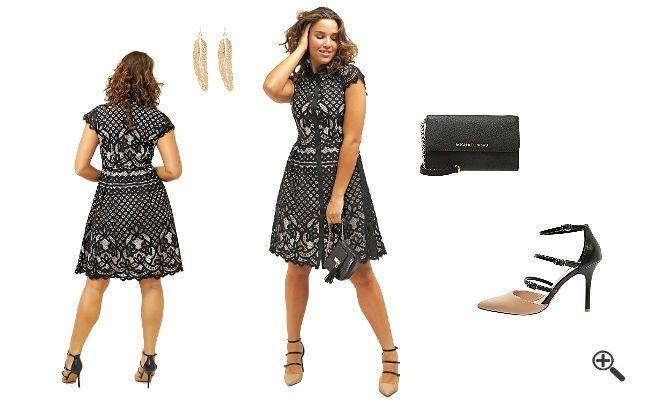 Festliche Kleider in Größe 50 + 3Outfits die schlanker http://www.fancybeast.de/kleider-groesse-50/ #Cocktailkleider #Kleider #Dress #Outfit #XXL #XL #schlank Kleider Größe 50 Outfits die schlanker machen