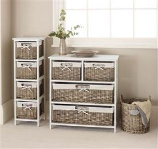 Cream Wide Storage Unit from Next