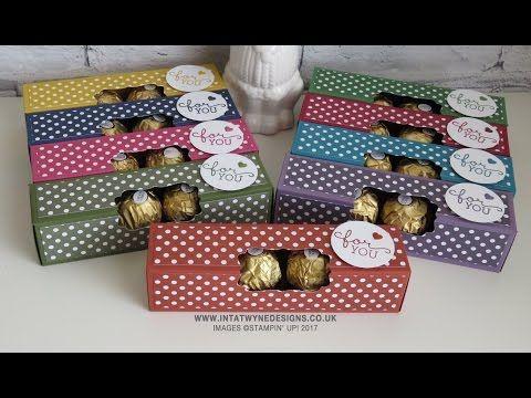 Fold Flat Ferrero Rocher Box using the Regals Colour Family - YouTube
