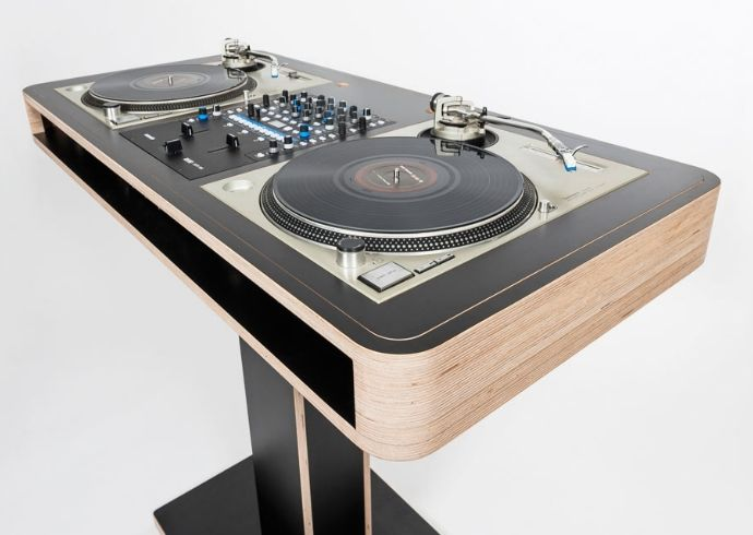 diy dj table flush bing images. Black Bedroom Furniture Sets. Home Design Ideas