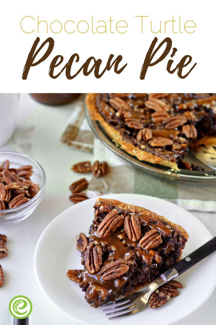 Chocolate Turtle Pecan Pie | eMeals.com