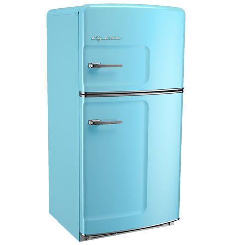 Original Refrigerator with Ice Maker, Left- Opening - Blue Blue
