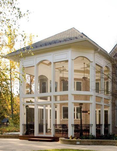Two Story Open Porch W Glass Porches Pinterest Porches
