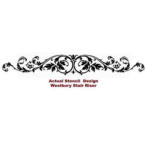 Cutting Edge Stencils - Westbury Stair Riser Stencil