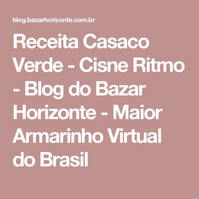 Receita Casaco Verde - Cisne Ritmo - Blog do Bazar Horizonte - Maior Armarinho Virtual do Brasil