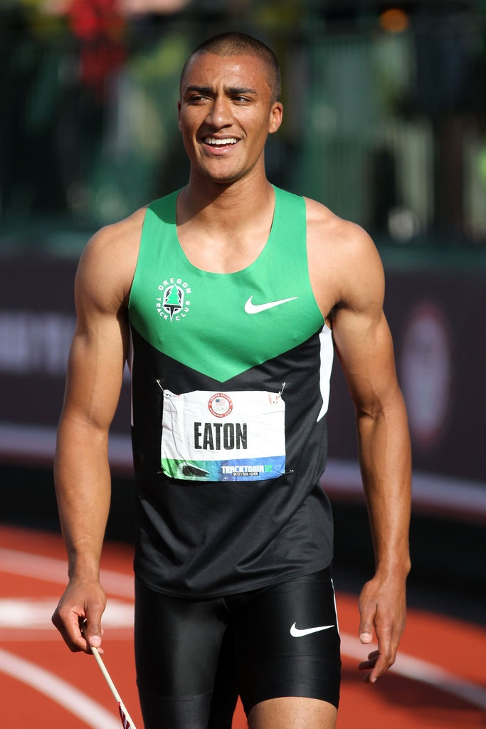 Ashton Eaton. I saw him run at the Prefontaine Classic this past weekend. :) He's not hard on the eyes by any means. ;) #InternLife #Media #TrackTownUSA