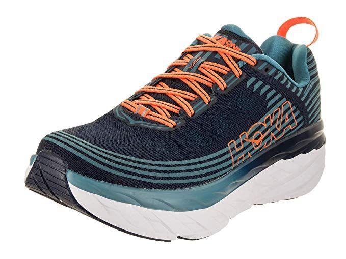 cda625d1b86b9 HOKA ONE ONE Men's Bondi 6 Running Shoe, Black Iris/Storm Blue 12 US ...