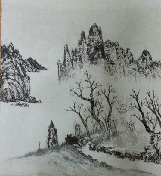 Conventional style of korean painting
