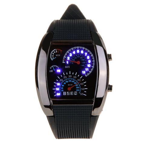 Cool Car Meter Dial Unisex Dot Matrix LED Watch - Electromann SA