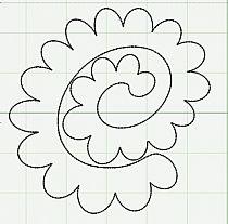 szablon - kwiatek