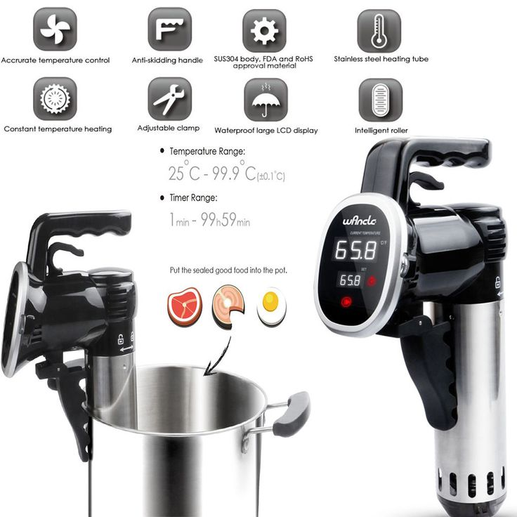 Precision Cooker Sous Vide Machine Immersion Circulator Thermal Pro Gourmet