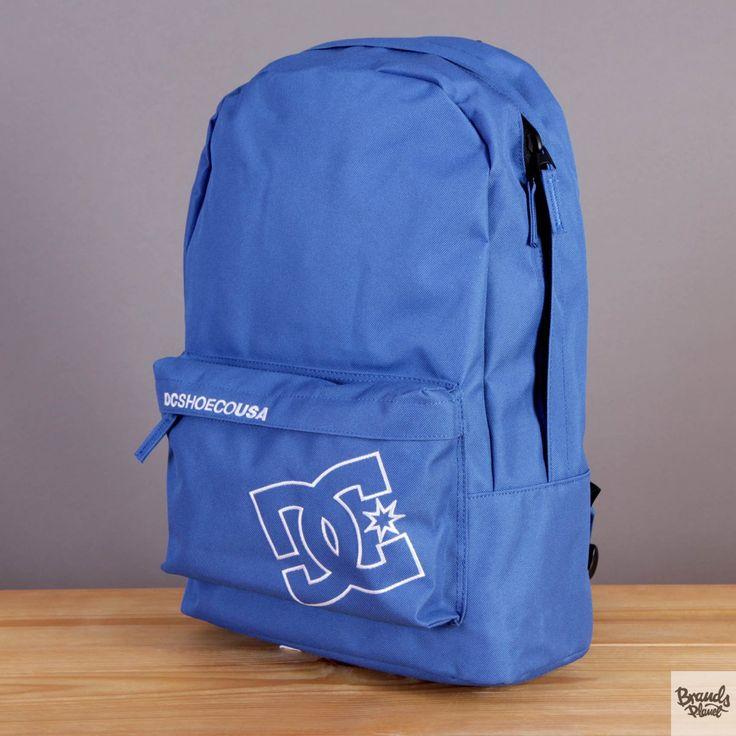 Niebieski plecak z kieszenią na laptopa DC Bunker Solid Nautical Blue / www.brandsplanet.pl / #dc shoes #skateboarding
