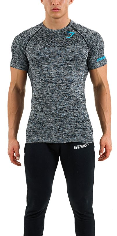 Mens Seamless T-Shirt | Melanite | Mens T-Shirt | Gymshark Discount Codes here - http://www.voucherix.co.uk/vouchers/gymshark/