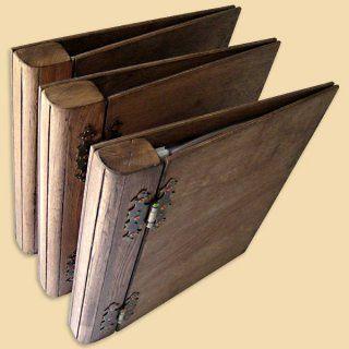 3 Wood Presentation Binders DIN A4 Ring Binder