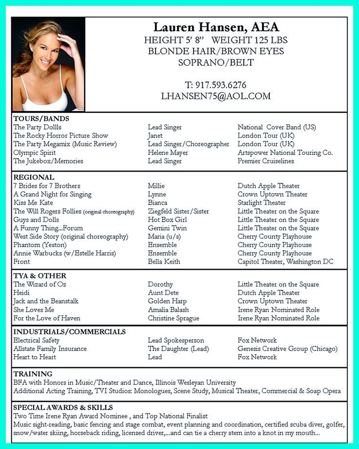 Dance Resume Can Be Used For Both Novice And Professional Dancer Most Job Of Dancer Has Minimum Requi Acting Resume Template Acting Resume Job Resume Examples