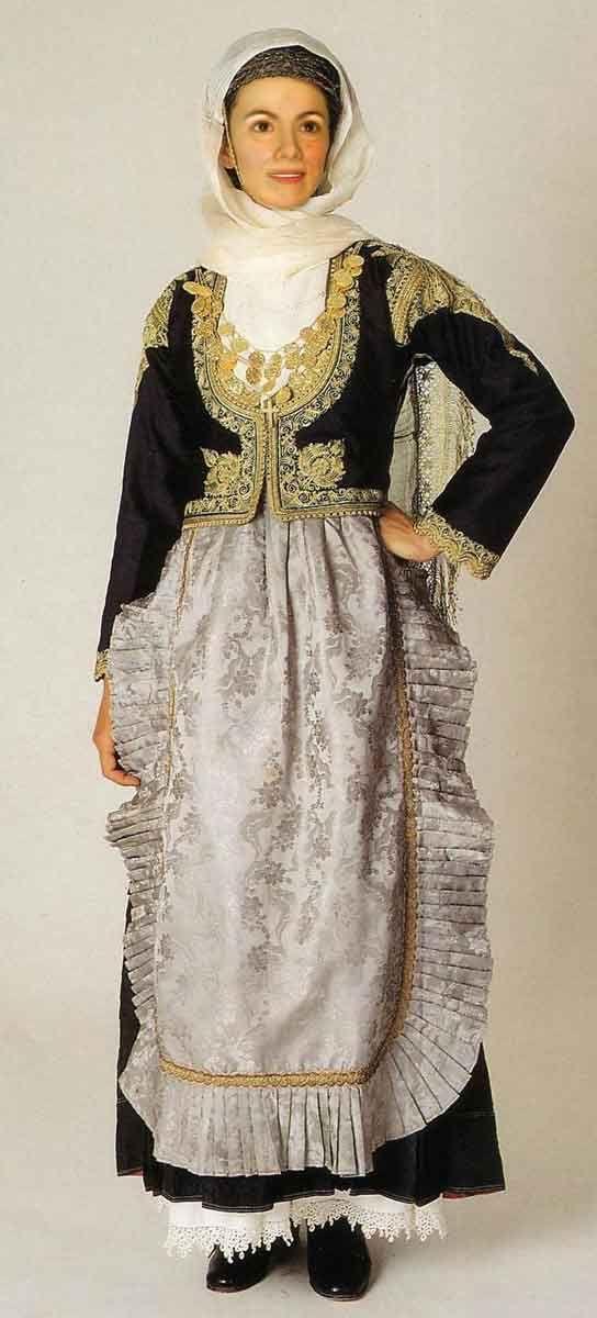 Costume of Megara, Sterea Ellada..-Central Greece