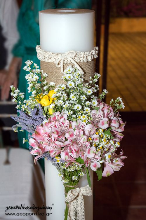 wedding candle, λαμπάδα γάμου