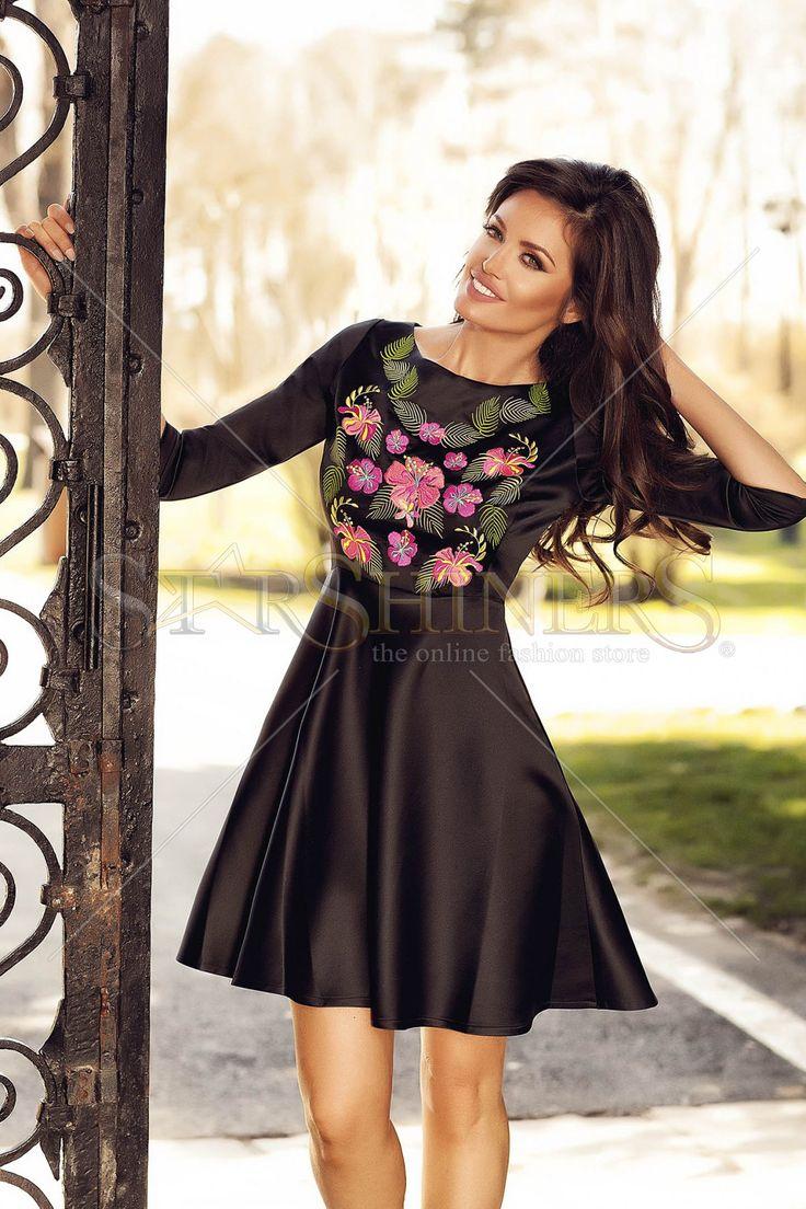 StarShinerS Brodata Thailanda Black Dress