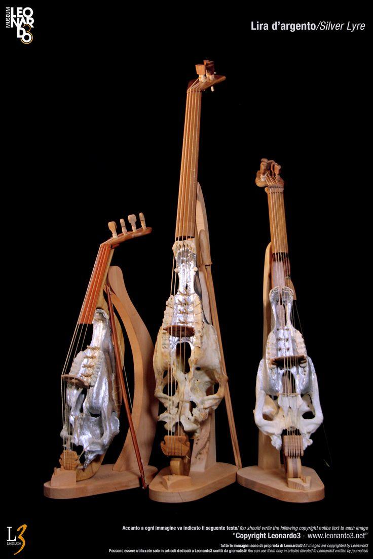 Leonardo Da Vinci Silver Lyre - Musical instrument  Lira d'argento di Leonardo Da Vinci / Dragolira  Mario Taddei - Leonardo3  www.Leonardo3.net DaVinci Museum Leonardo3